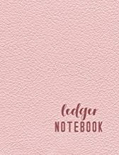 Ledger Notebook: 6 Column Accounting Ledger Book For Bookkeeping - The Record Keeping Journal - Pink Leather Style