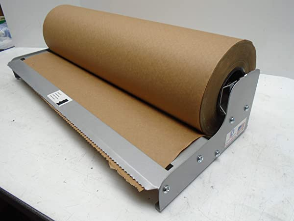 Paper Cutter Roll Dispenser Tekno Series 24 Inches Table Mount Kraft Paper Duralov