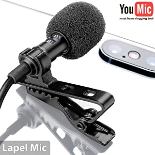 Lavalier Lapel Microphone for iPhone X 8 7 Plus 6 6s 5 5s / iOS/Android | Mini Lav Mic..