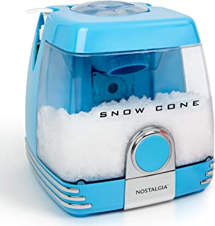Nostalgia SC7BL Countertop Snow Cone Party Station Makes 30 Icy Treats, Includes 2 Reusable Pump Syrup Bottles, 2 Plastic Cups, Ice Scoop, Blue