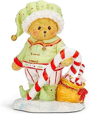 Roman 133478 Percy Elf Bear Figurine, 4 inch, Multicolor