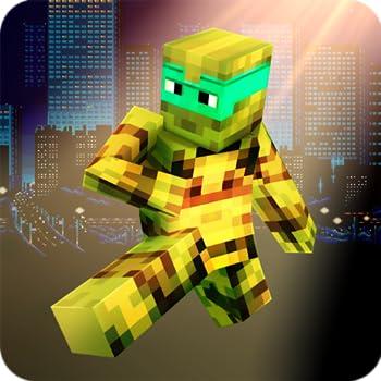 Cube Turtle Hero and Cube Ninja