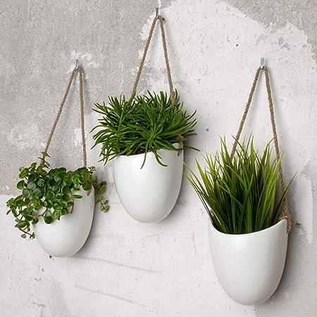Herefun 3 pcs Pots de Fleurs Plantes Pot de Plantes pour Int/érieur Supports de Plante Cache-Pot Gros Balcon Jardin Cache-Pots de Fleurs avec Supports Ext/érieur
