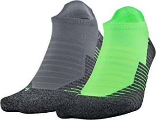 Under Armour Run 2.0 No Show Tab Socks for Men and Women (1 and 2 Pair)
