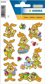 """HERMA 6419 Pegatinas de Pascua""""Conejos divertidos"""" autoadhesivas para niños para decoración de Pascua, para manualidades o..."""