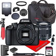 $328 Get Canon EOS 4000D / Rebel T100 DSLR Camera w/ 18-55mm F/4-5.6 is STM Lens + Canon Case + 32GB SD Card (13pc Bundle)