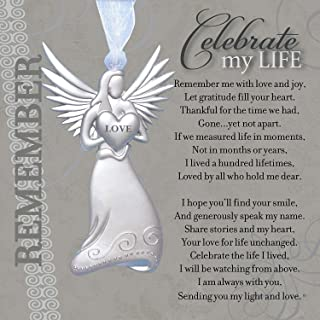 Memorial/Remembrance Angel Ornament with Celebrate My Life Poem- Heartfelt Sympathy Gift for Loss of Loved One (4)