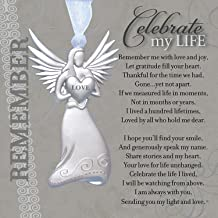 Memorial/Remembrance Angel Ornament with Celebrate My Life Poem- Heartfelt Sympathy Gift for Loss of Loved One (2)