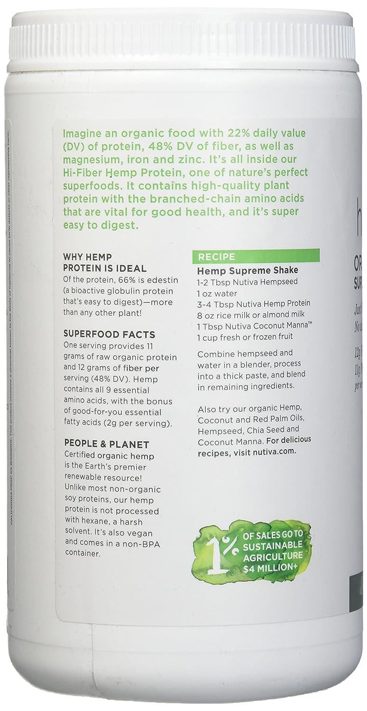 Nutiva, Hemp Protein Powder Organic, 16 Ounce : Health & Household