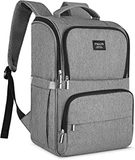 MOSISO Diaper Bag Backpack, Multifunction Large Capacity Lightweight Stylish Nappy Maternity Nursing Baby Bags with Changing Pad Adjustable Durable Travel Back Pack with Stroller Straps, Gray