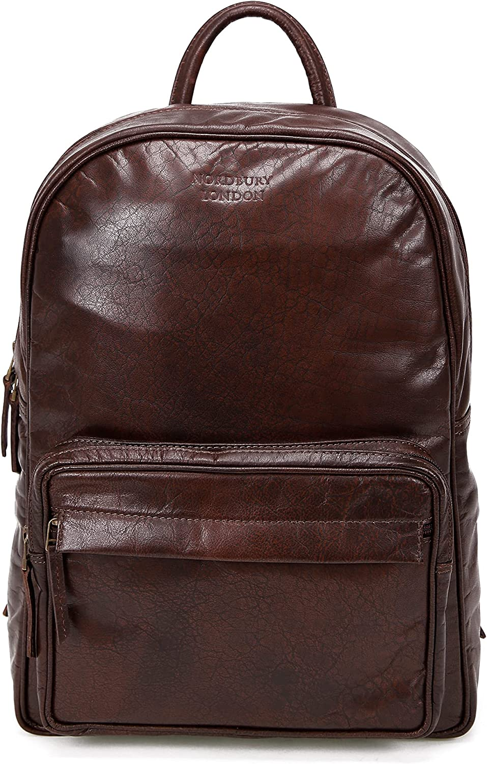 NORDBURY Hand-Crafted NEW before selling ☆ Genuine Leather Fash price Rucksack Backpack Bag