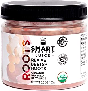 Smart Pressed Juice Revive Beets and Roots | Beets Juice Turmeric Ginger Carrot Rhodiola Lemon Kale | Raw Cold-pressed Pre-workout Energy Nitric Oxide Boost Detox | Organic Juice Cleanse MADE IN USA