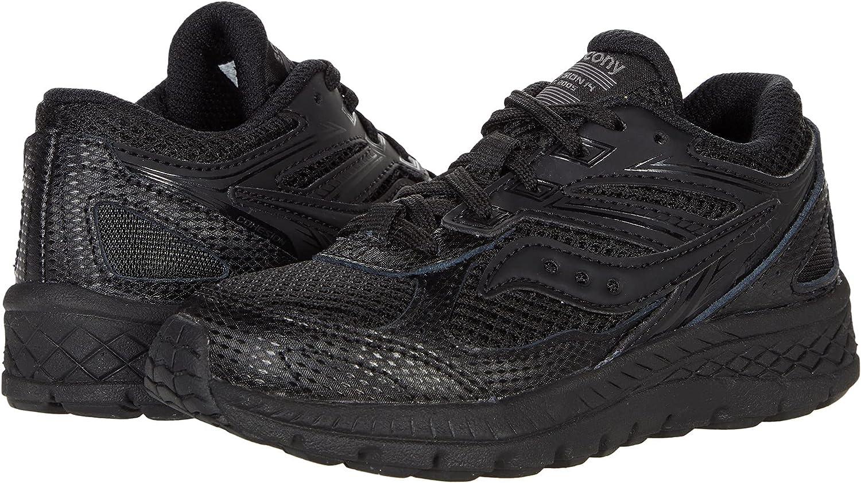 Saucony Cohesion 14 LACE to Toe Running Shoe, Black/Black, 13 US Unisex Big Kid