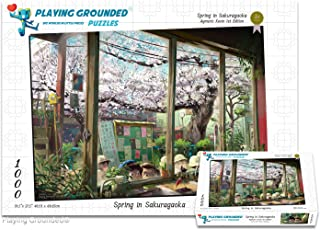 Playing Grounded Limited Edition Jigsaw Puzzle 1000 Pieces Spring in Sakuragaoka by AYMRC Anime Puzzle Anime Collectible Fantasy Puzzle Children's Puzzle Children's Wall Decor