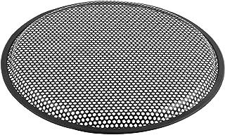Universale Rotondo Altoparlante Metallo Antipolvere Anello Mesh Griglia per Woofer Bianca 4 Pollici
