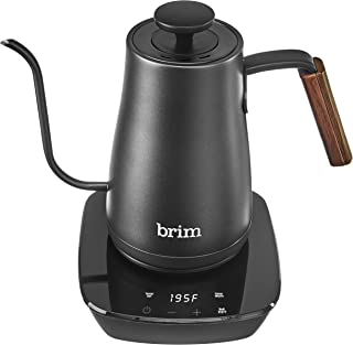 Brim (50020) Temperature Control Electric Gooseneck Kettle with Capacitive Touch, Black