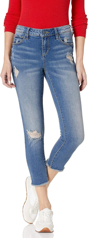 SLINK Ranking TOP16 Spasm price Jeans Women's Missy Frayed Caralyn Crop Hem