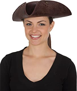 Women's Distressed Faux Leather Tricorne