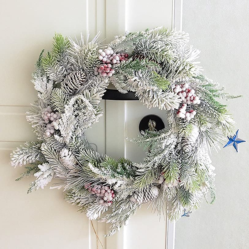 スキル送った自発的Snowflakeクリスマスの花輪装飾籐リングのペンダント ( サイズ さいず : 40 cm 40 cm )