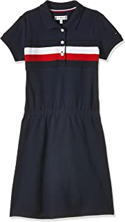 Tommy Hilfiger Girl's Pique Polo S/S Dress, Color:Twilight Navy, Size:10