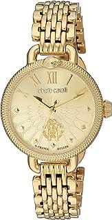 Roberto Cavalli Women's Floreale Swiss Quartz Watch with Gold Tone Strap, 13 (Model: RV1L064M0036)