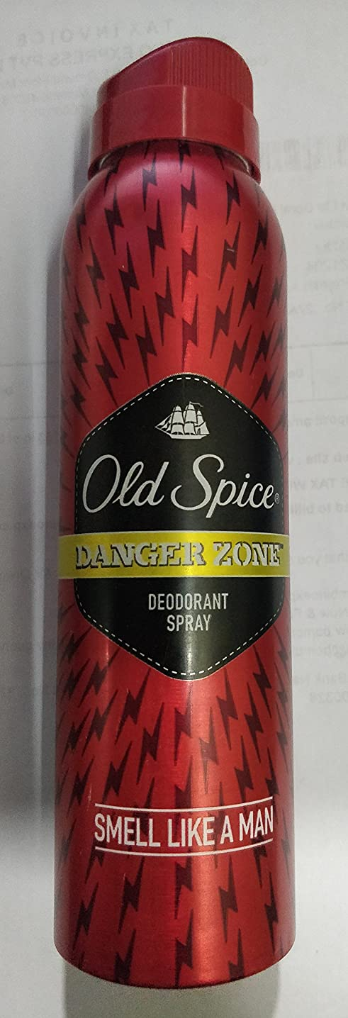 チロ結婚避難Old Spice Deodorant Spray - 150 ml (Danger Zone) - India