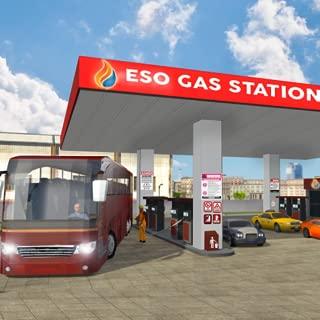 Smart Bus Wash Service Gas Station Parking Games 2018: Real Bus mechanic workshop & Driving Simulator Free for Kids