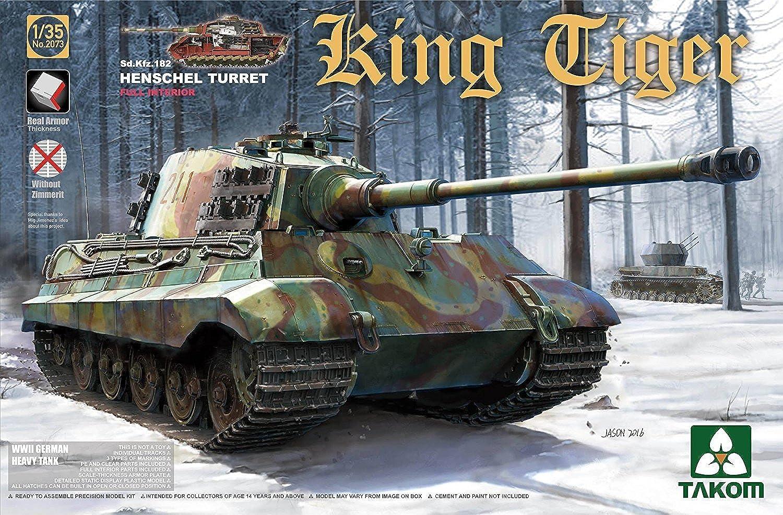 primera reputación de los clientes primero Takom tak2073s tak2073s tak2073s 1  35King Tiger Henschel con Interior  servicio considerado