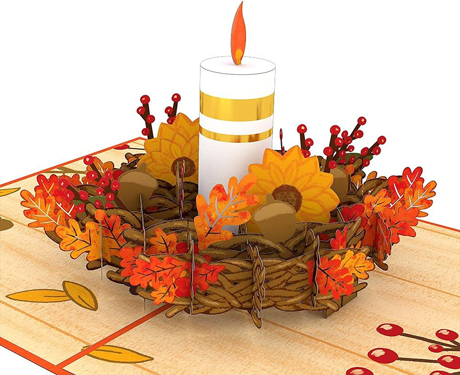Lovepop Fall Candle All items in the Inventory cleanup selling sale store Pop Up Card Greeting 5x7 - 3D Seasona