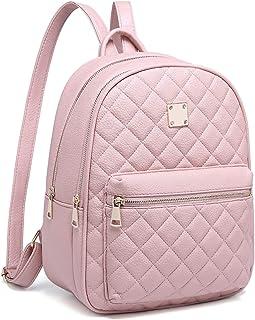Myhozee Zaino Donna Pelle PU Zainetto Ragazza Casual Rosa Zaini Casual Daypack Backpack per Scuola Viaggio Lavoro Shopping