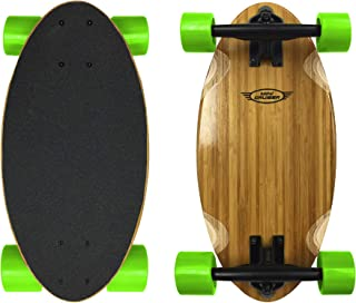 Mini Cruiser Wood Longboard Style Skateboard – Lightweight and Portable – Beginners to Experts - Green