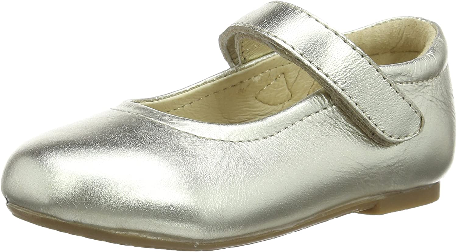 Old Soles Girl's Praline Shoe Leather Hook and Loop Mary Jane Flats