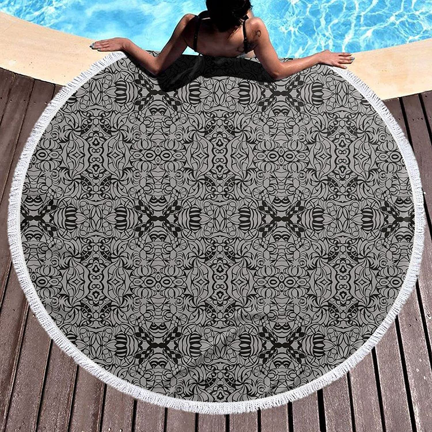 59 Limited price Inch Round Beach Towel Phoenix Mall Oversized T Party Pool Sand Rave