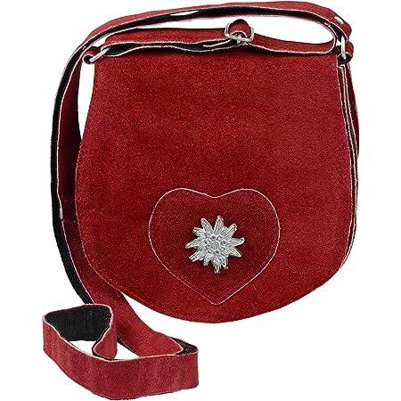 HC Damen kleine Trachtentasche mit Edelweiß, Farben:rot