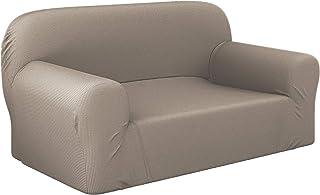 Dreamzie - Fundas Sofa Elasticas 2 Plazas - 60% Algodón Reciclado - Certificada Oeko-Tex® sin Productos Químicos - Fabricada en España - Beige