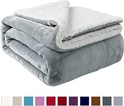 NANPIPER Sherpa Blanket Twin Thick Warm Blanket for Winter Bed Super Soft Fuzzy Flannel Fleece/Wool Like Reversible Velvet Plush Blanket (Light Grey Twin Size 60