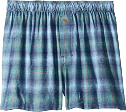 Plaid Flannel Boxer Shorts
