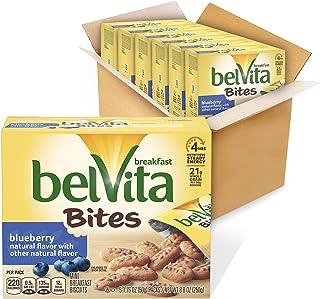belVita Breakfast Biscuit Bites, Blueberry Flavor, 6 Boxes (5 Packs Per Box)