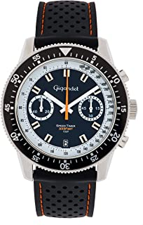 Gigandet Men's Quartz Watch Speed Timer Chronograph Analog Silicone Strap Silver Blue G7-001