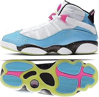 Nike Jordan 6 Rings CK0018 100 White/Light Blue Fury/Cyber Men's Basketball Shoes