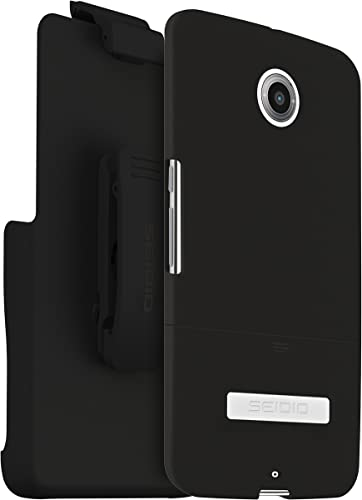 wholesale Seidio SURFACE Case with Metal Kickstand and wholesale Holster Combo for Motorola Nexus 6 - outlet sale Retail Packaging - Black sale