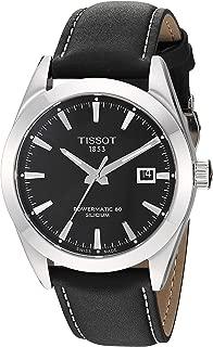 Mens Gentleman Swiss Automatic Stainless Steel Dress Watch (Model: T1274071605100)