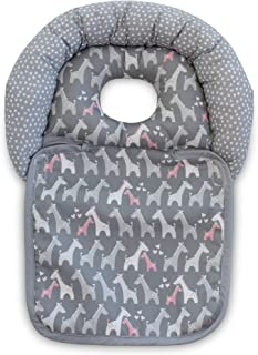 Boppy Noggin Nest Head Support, Gray Giraffes, Head Support for Infants