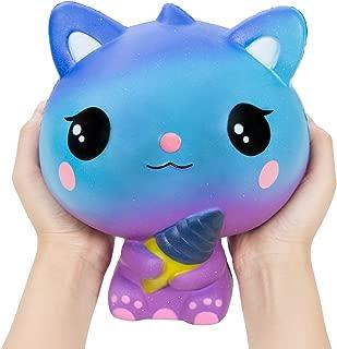 AILIMY Ice Cream Cat Animal Squishy Jumbo Cream Scented Soft Squishies Slow Rising Squeeze Toys