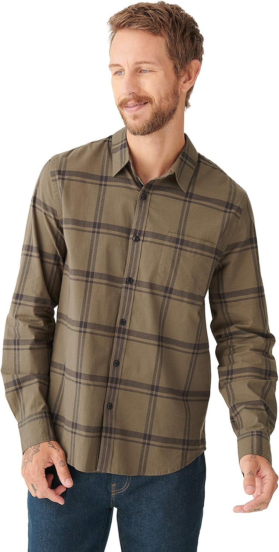 Lucky Brand Men's Long Sleeve Button Up Plaid One Pocket San Gabriel Shirt