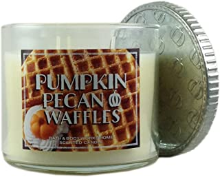Bath & Body Works Candle 3 Wick 14.5 Ounce Limited Edition 2015 Pumpkin Pecan Waffles