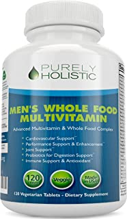 Multivitamin for Men ★ Daily Supplement 120 Tablets ★ Whole Food Multivitamin, Men's Multivitamin Organic, Vitamins, Miner...