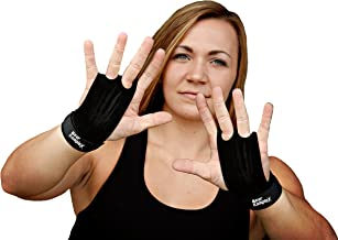 Bear KompleX 2 Hole Leather Hand Grips for Gymnastics, Crossfit, Pull-ups, Weightlifting, WODs with Wrist Straps, Comfort and Support, Hand Protection from Rips and Blisters