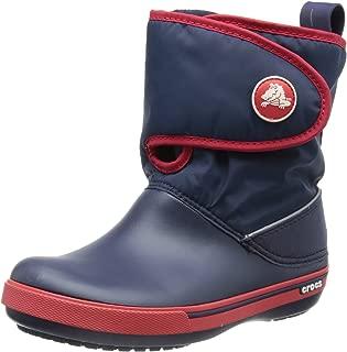 Crocs Kids Unisex CrocbandªII.5 Gust Boot (Toddler/Little Kid) Navy/Red 2 M US Little Kid M