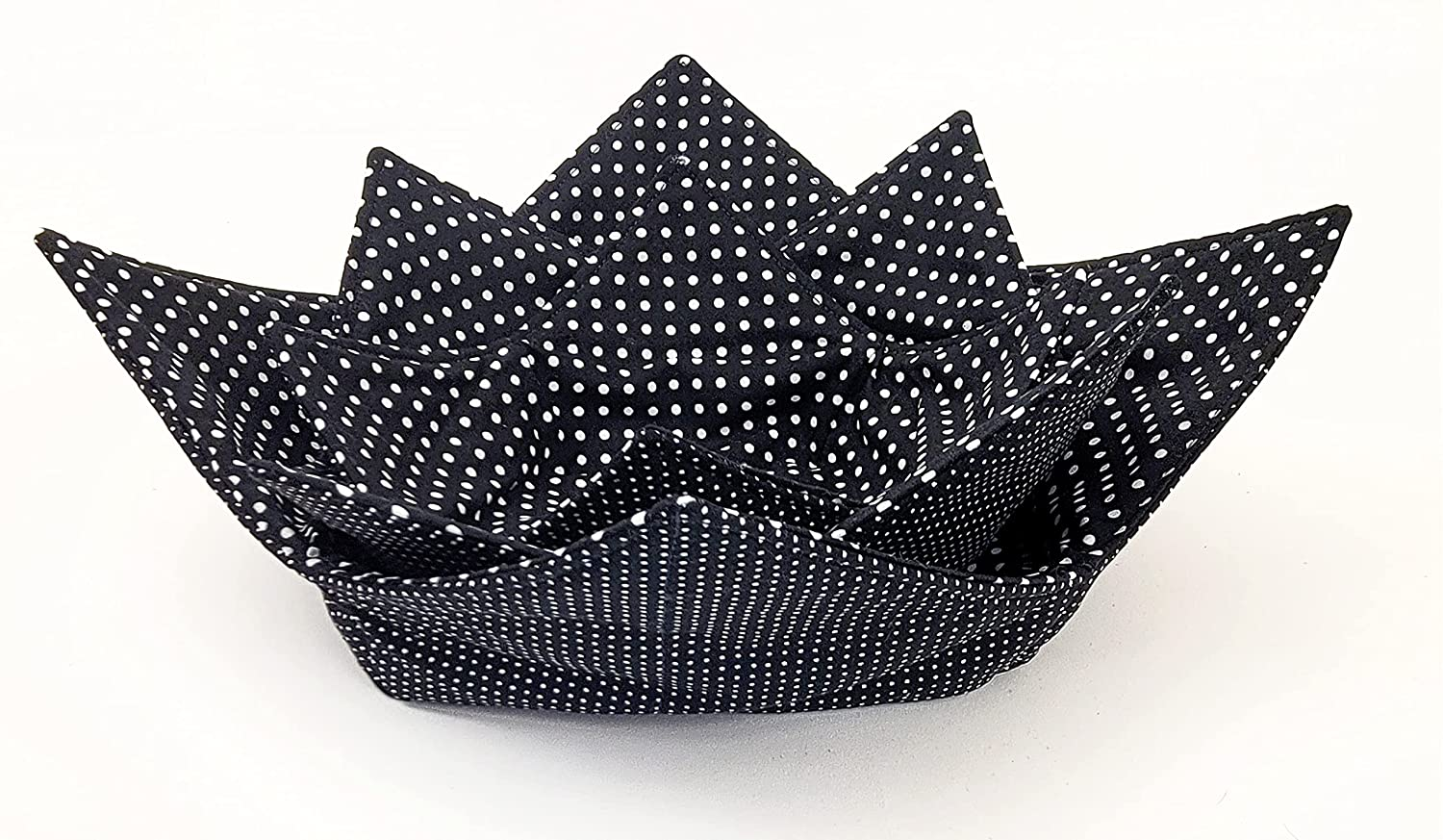 2021new shipping free Microwave Bowl Cozy 3 pc Set Polka 70% OFF Outlet Reversible Dots White Black H